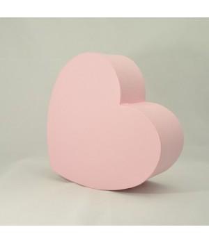 """Коробка у формі """"Серця"""" 25*20*10 см рожева (clarina rosa)"""