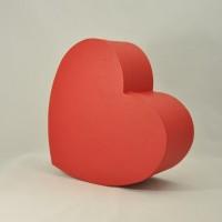 """Коробка у формі """"серця""""  30*25*12 см червона (імітлін)"""