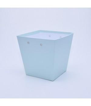 """Коробка """"Трапеція"""" 20*15*20 см м'ятний гладкий блиск"""