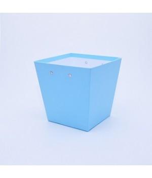 """Коробка """"Трапеція"""" 20*15*20 см блакитна матова"""