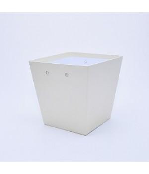 """Коробка """"Трапеція"""" 20*15*20 см бежева з блиском"""