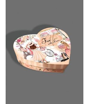 "Коробка в форме ""сердца""  25*20*6 см декор Париж"